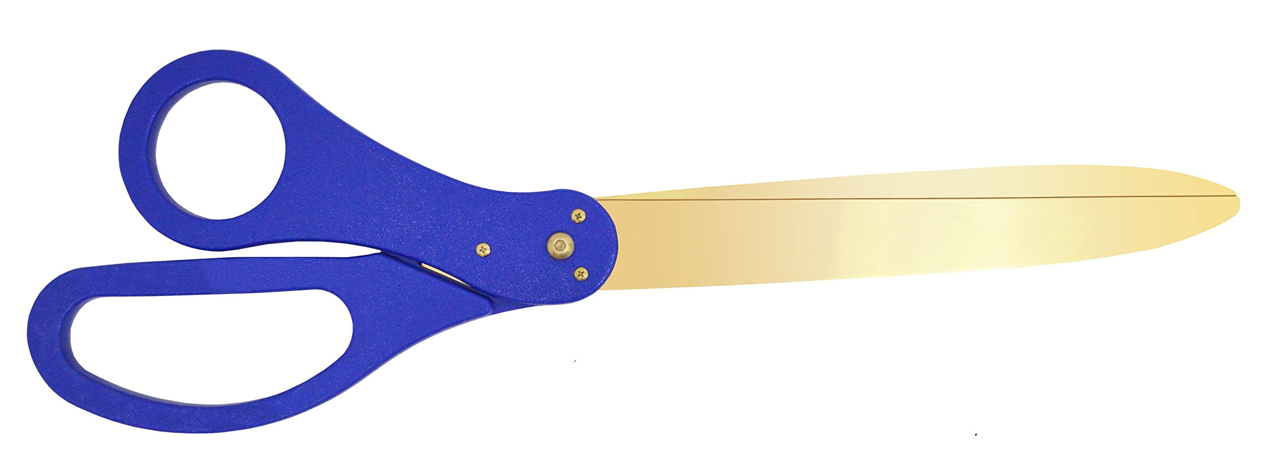 30 Inch Long Gold Color Steel Blade Ribbon Cutting Scissors (Blue)