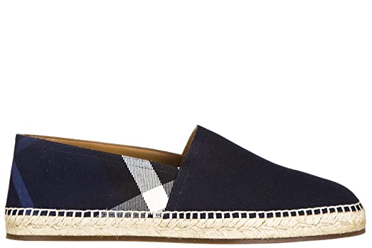 Men's Cotton Espadrilles Slip on Shoes Blu