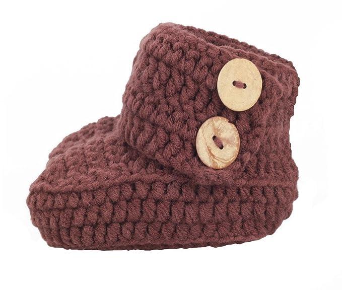 Amazon.com: bestknit Crochet Baby Booties recién nacido ...