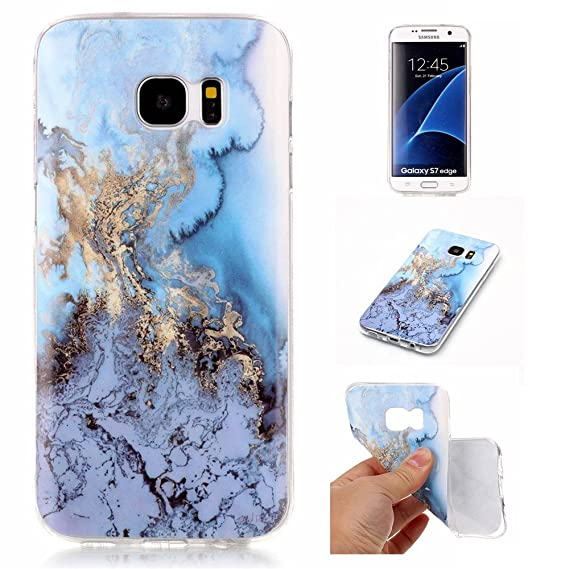 on sale c782c f5a4a S7 Edge Sea&Blue Marble Case,IVY [Marble] Galaxy S7Edge TPU Case Cover for  Samsung Galaxy S7 Edge Phone