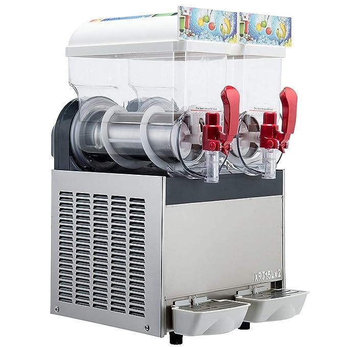 Amazon.com: Kolice 2X15L Tanks Commercial ice Slush Machine Margarita Frozen Drink Cooling Beverage Making Machine ice Slush Maker Frozen Drink Slushie ...