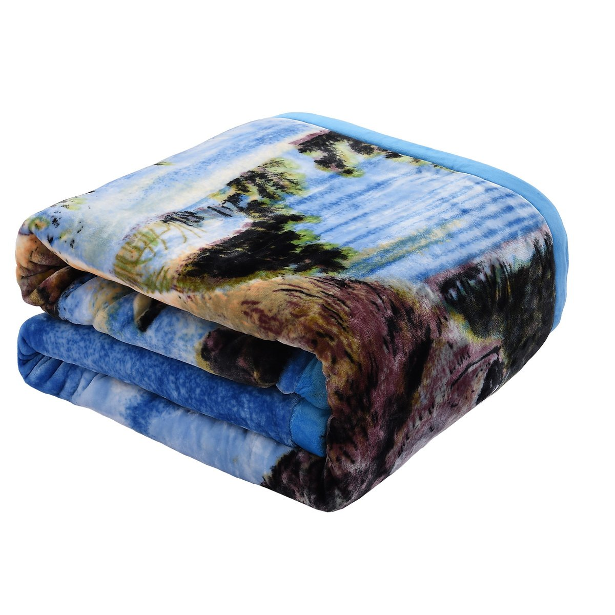 Jml Plush Crystal Velvet Heavy Blanket - Made of 750 GSM Microfiber in 95''x85'' - Faux, Mink and Embossing Dual Layers - Animal Printed in King Size, 9LB Weight by Jml (Image #8)