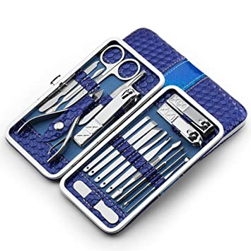 Amazon.com: BUG-L 18-Piece Nail Clipper Set, Stainless Steel ...
