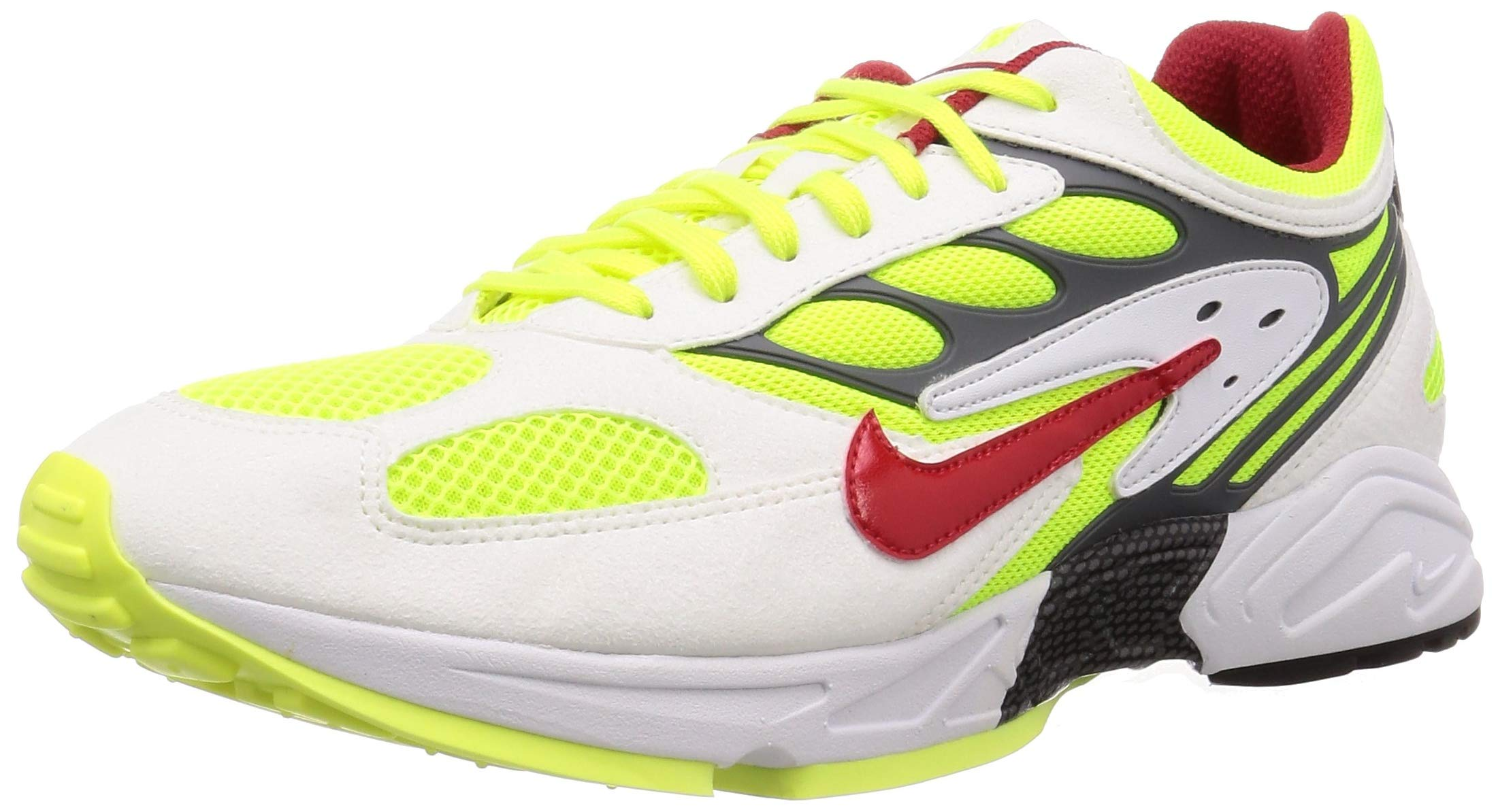 Nike Air Ghost Racer Mens Sneakers AT5410-100, White/Atom Red-Neon Yellow-Dark Grey, Size US 10.5 by Nike