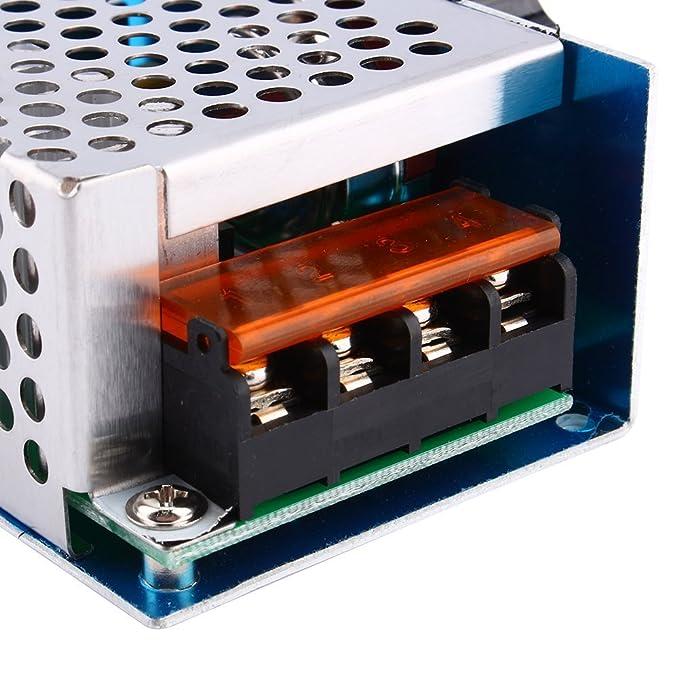 Yosoo Controlador de velocidad de alta potencia de 4000W 220V AC SCR regulador de voltaje del motor eléctrico Dimmer: Amazon.es: Electrónica