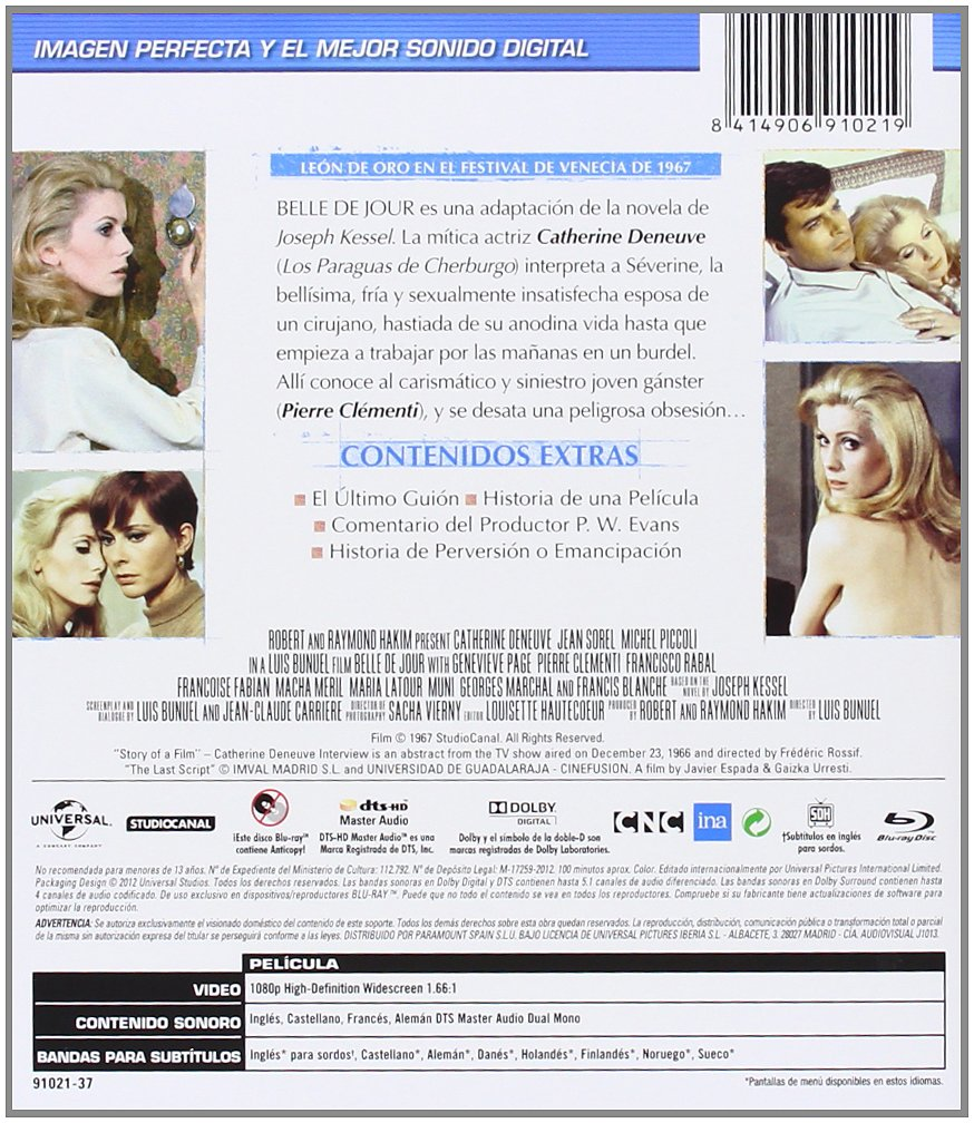 Amazon.com: Belle De Jour (Blu-Ray) (Import Movie) (European Format - Zone B2) (2012) Catherine Deneuve; Jean Sorel; Miche: Movies & TV