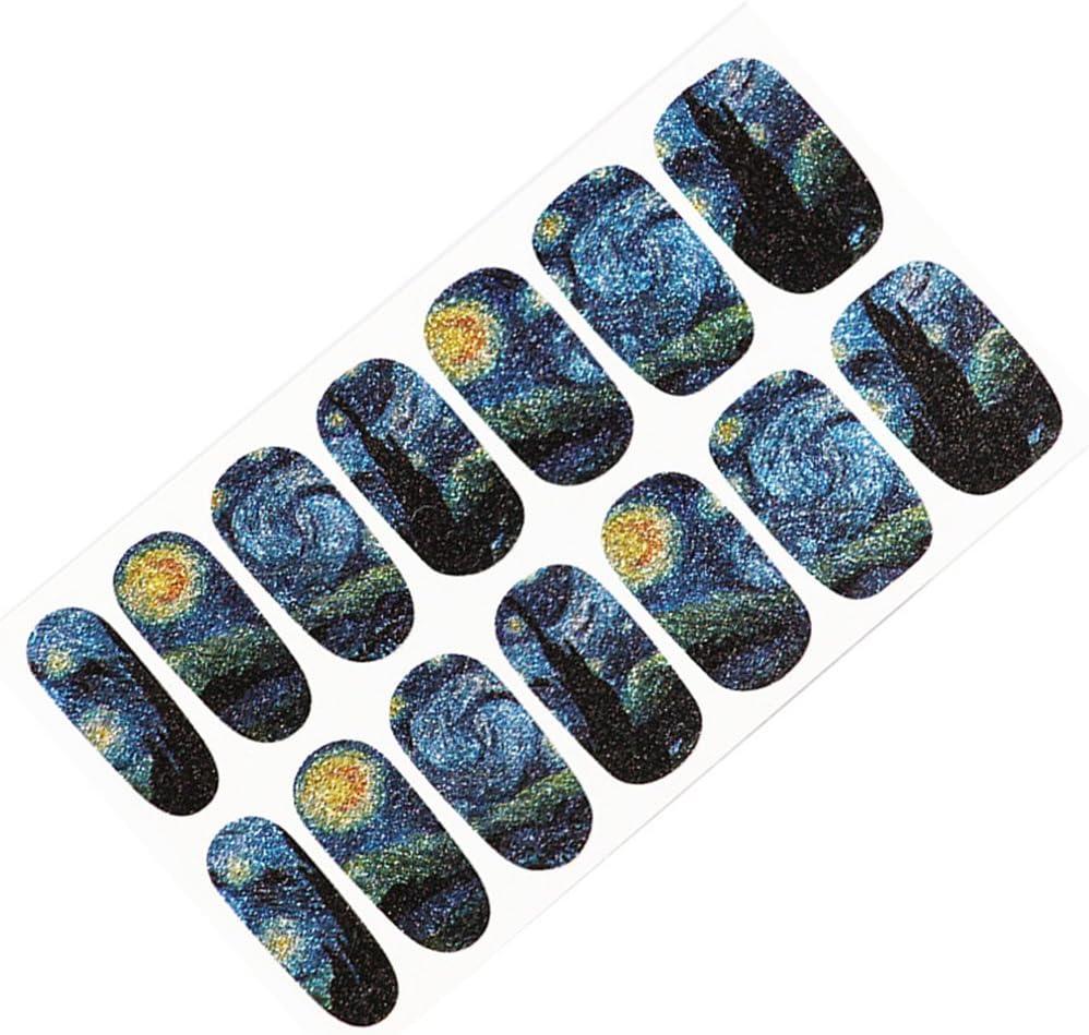 Decoración de uñas Pegatinas Elegante