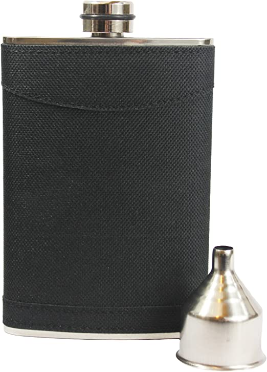 Cups Funnel Box Set Gift New 8oz Stainless Steel Hip Flask Liquor Whiskey Drink