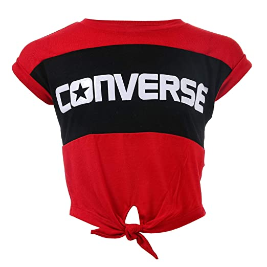 e4fa02541fd Image Unavailable. Image not available for. Color  Converse Girl s  Colourblocked Tie Top 4T Red