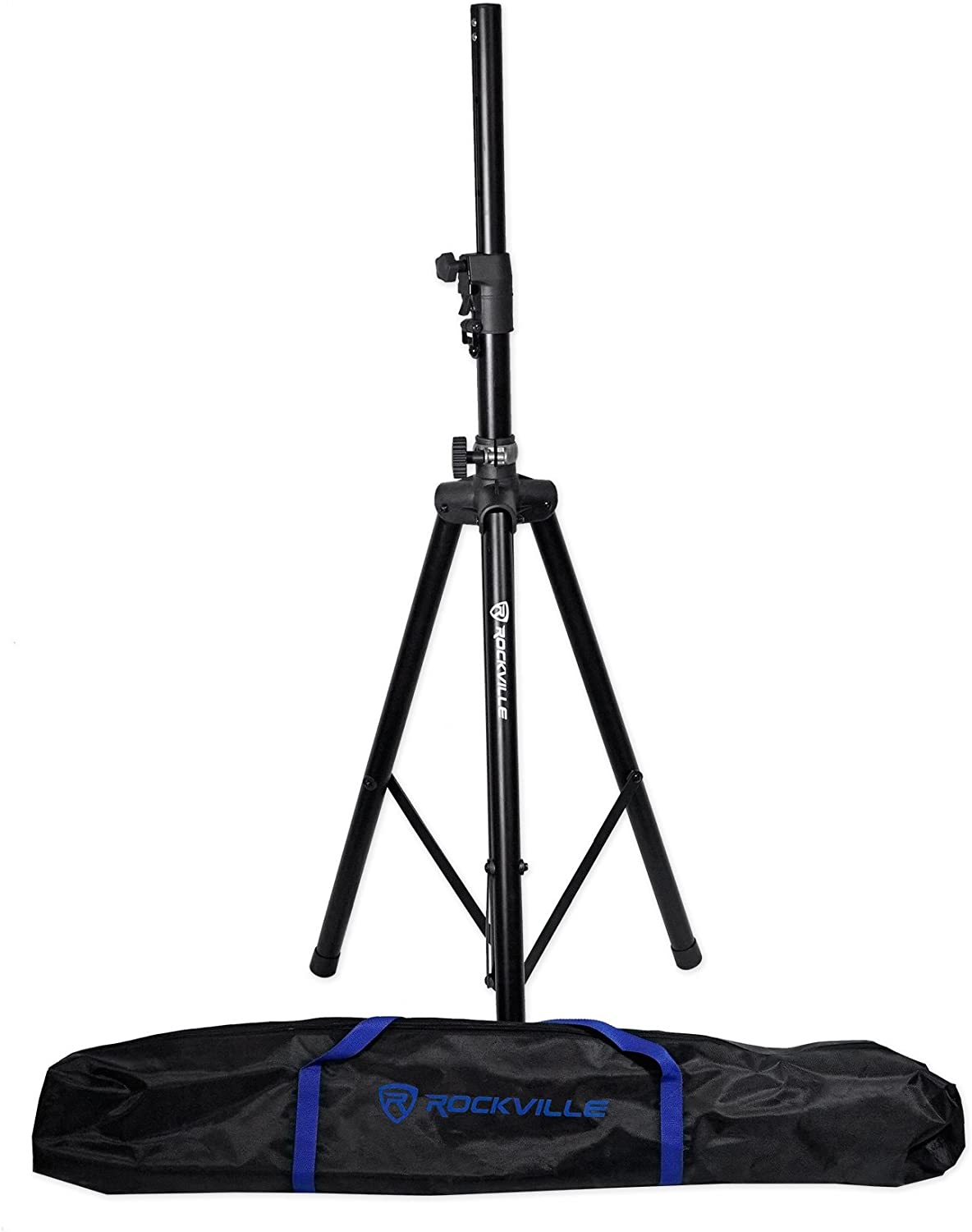 Rockville DJ PA Tripod Speaker Stand+Bag Hydraulic Auto Lift & Lowering RVSS4AB