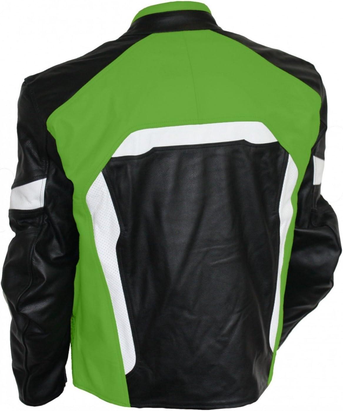 German Wear Motorradjacke Lederjacke Biker lederjacke 4x Farbauswahl Frabe:Dunkelblau;Gr/ö/ße:L