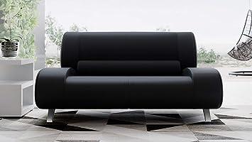 Amazon Com Zuri Furniture Modern Aspen Black Microfiber Leather Loveseat Furniture Decor