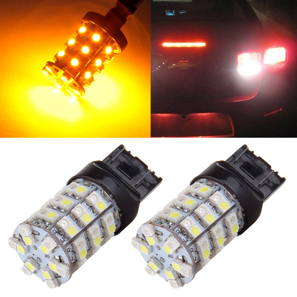 OCPTY 1157 LED Light Bulbs 2057 2357 7528 BAY15D LED Bulbs 144-EX Chipsets with Projector Replacement Replacement fit for Tail Brake Lights,4x White