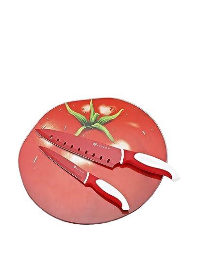 Compra Darna Home Tabla De Cortar Tomate + 2 Cuchillos ...
