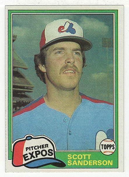 Amazoncom Scott Sanderson Baseball Card 1981 Topps 235 Nmmt