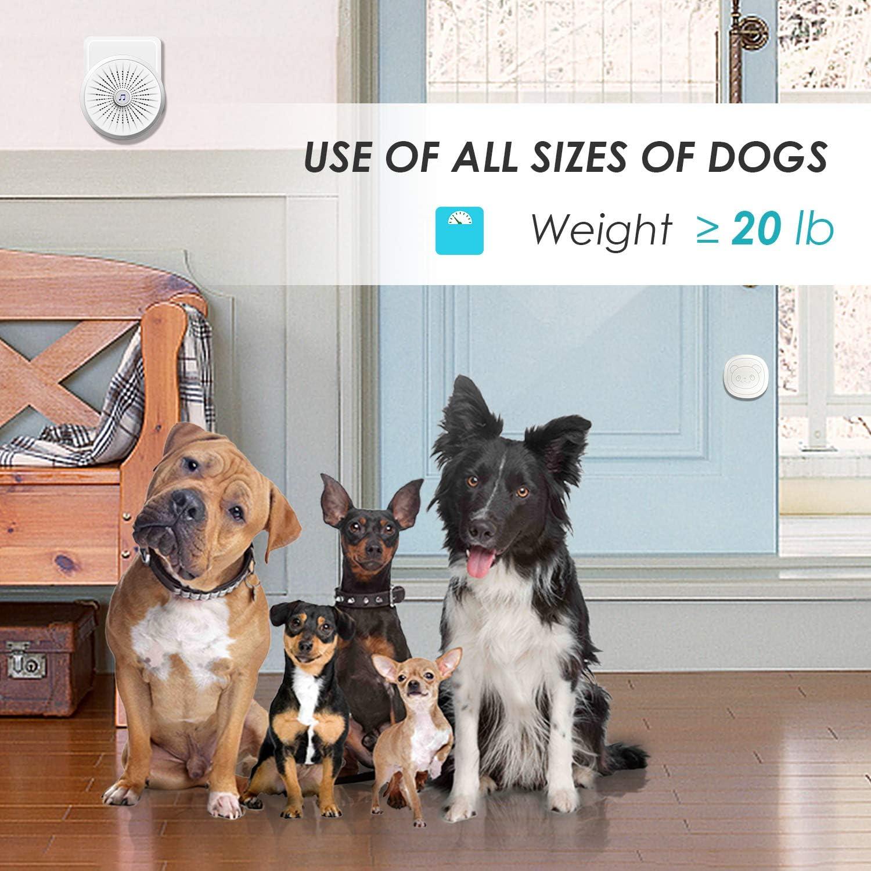 KINOEE Dog Door Bell with Wireless Touch Dog Bells for Potty Training and IP55 Waterproof Dog Training Door Bells