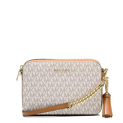 686660a3783 Michael Kors femme Crossbody Sac bandouliere Blanc (Vanilla)  Amazon.fr   Chaussures et Sacs