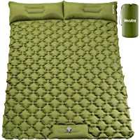 VECUKTY Double Camping Sleeping Pad, Upgraded Foot Press Inflatable Camping Pads with Pillow Waterproof Comfy Air…