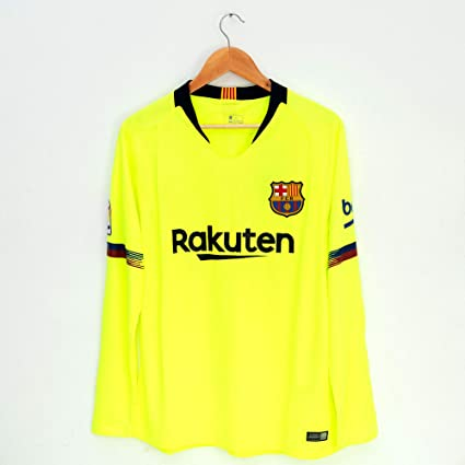 b5668a165 Image Unavailable. Image not available for. Color  Thai Version Barcelona  Soccer Jersey 2018 19 Home Away Third Long Sleeve ...