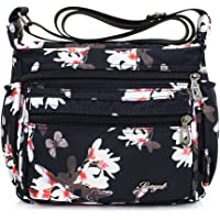 TOTZY Nylon Women Crossbody Bag Organize Travel Shoulder Purse with Lots of Pockets-Flower