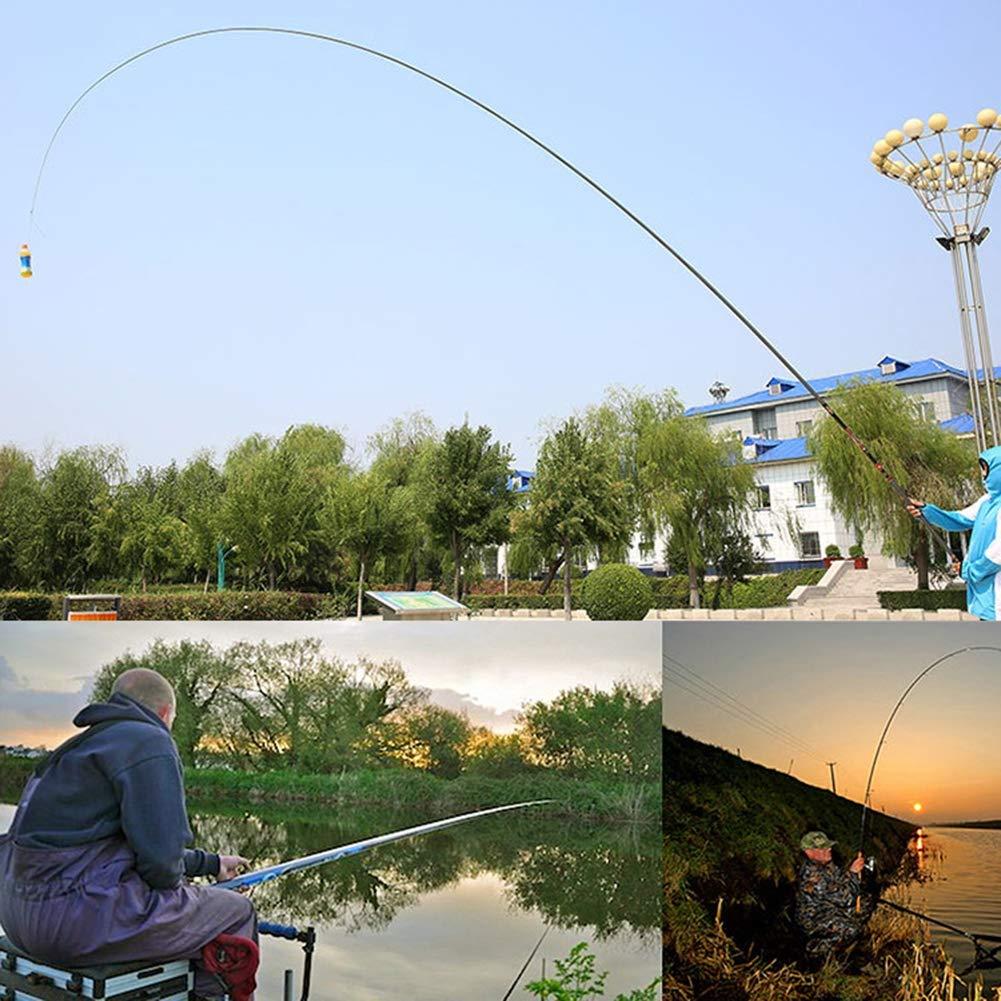 LZH Leichte Angelrute 2:8 Salzwasserrute 8M-15M Kohlefaser Stream Rod Angelrute drehen