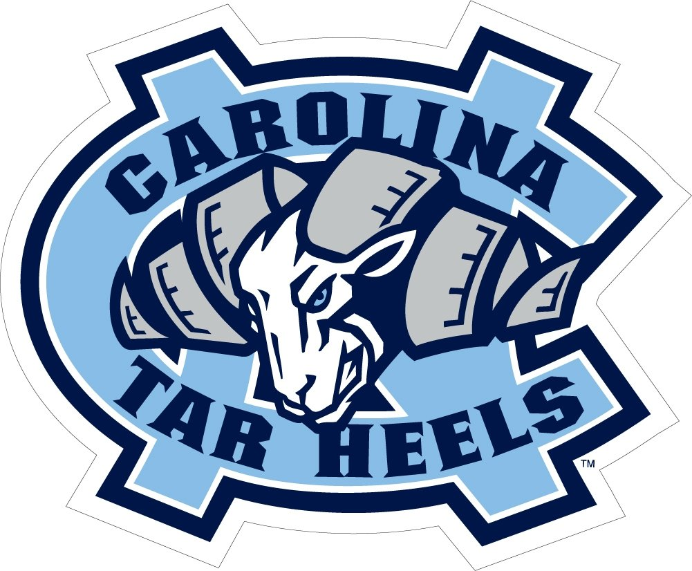 amazon com unc north carolina large auto cornhole decal sports rh amazon com tar heels logo in black and white tar heels logo in black and white