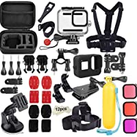 Ozone 50 in 1 Gopro Hero 8 Accessories Travel kit with Carry Case, Silicone Case, Waterproof Housing Case, Lens Filters, Anti-Fog Inserts, Mounts, 3M Sticker for GoPro Hero 8