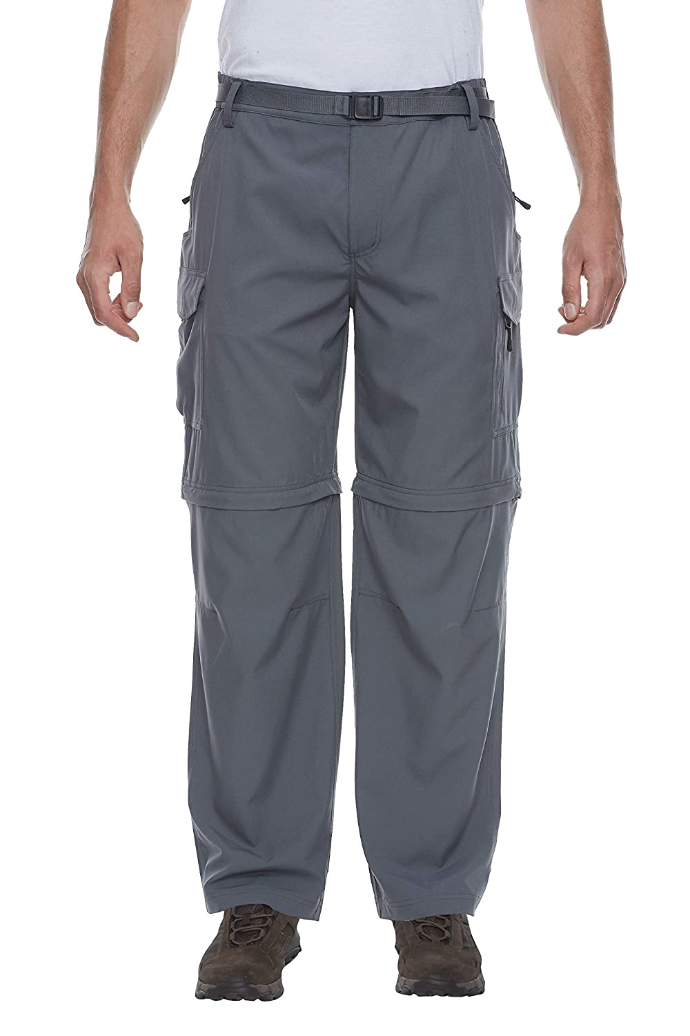 Travel LDA Little Donkey Andy Mens Stretch Convertible Pants Zip-Off Quick Dry Pants for Hiking