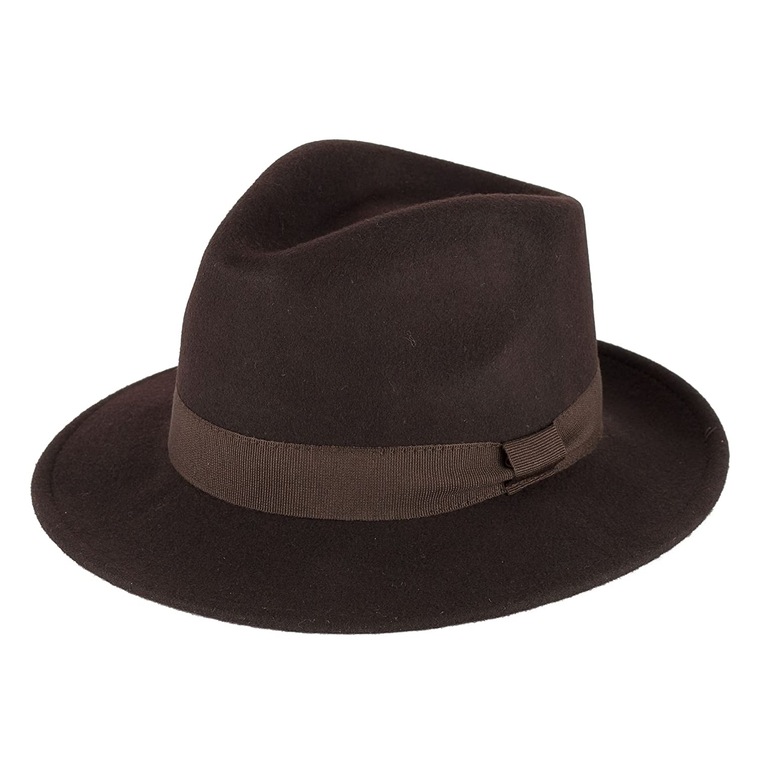828747f7ebe8aa Mens Ladies Fedora Hat 100% Wool Felt Made In Italy Handmade With Grosgrain  Band d2d Hats d2d 8447