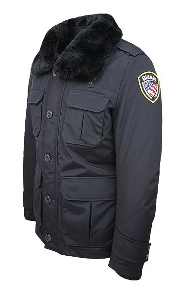 newest collection 5d282 49355 Blauer Giubbotto piumino modello Police nero invernale parka ...