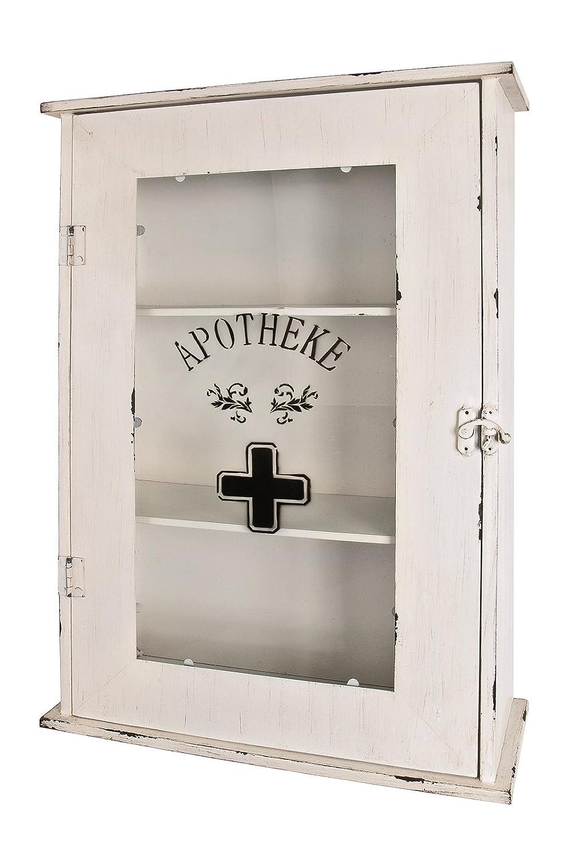 Medizinschrank bzw. Apothekerschrank in weiß aus Metall; 43x17x62 ...
