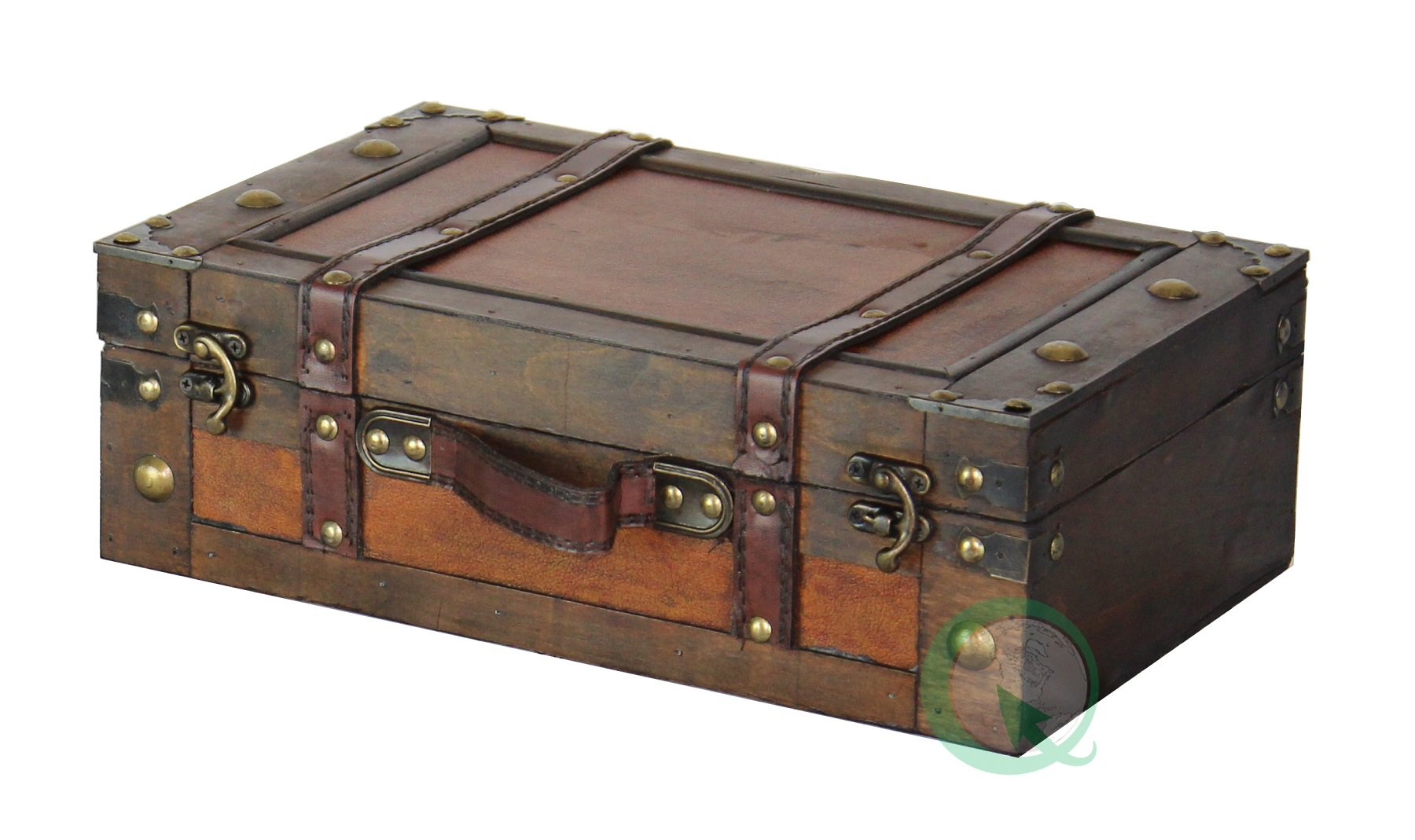 Vintage suitcase trunk train case wooden suitcase retro - Vintage suitcase ...