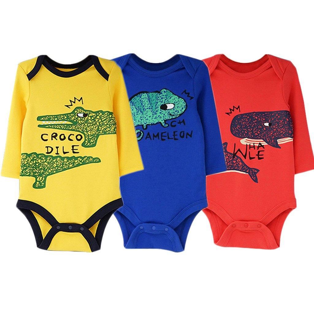 Minizone 2-Pack Baby Bodysuits Long Sleeve Body Vests Unisex Cotton Onesies Shenzhen Windy Trading Co. Ltd