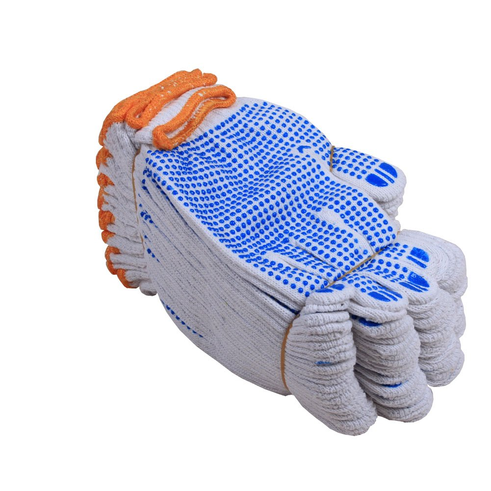 Fayear 12 Pairs White Cotton Protective Work Gloves for Factory Garden Working
