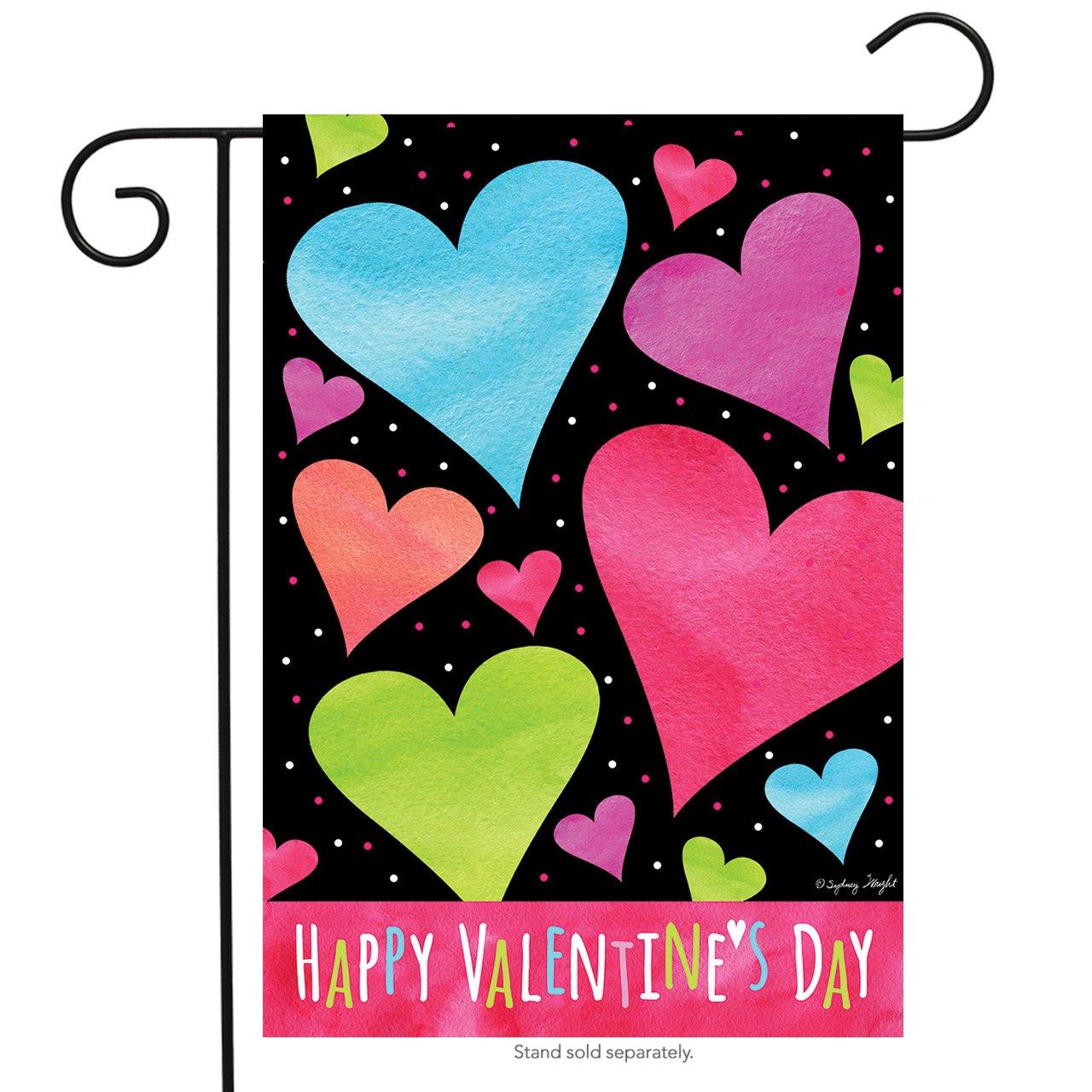 "Briarwood Lane Valentine Hearts Garden Flag Valentine's Day Holiday 12.5"" x 18"""