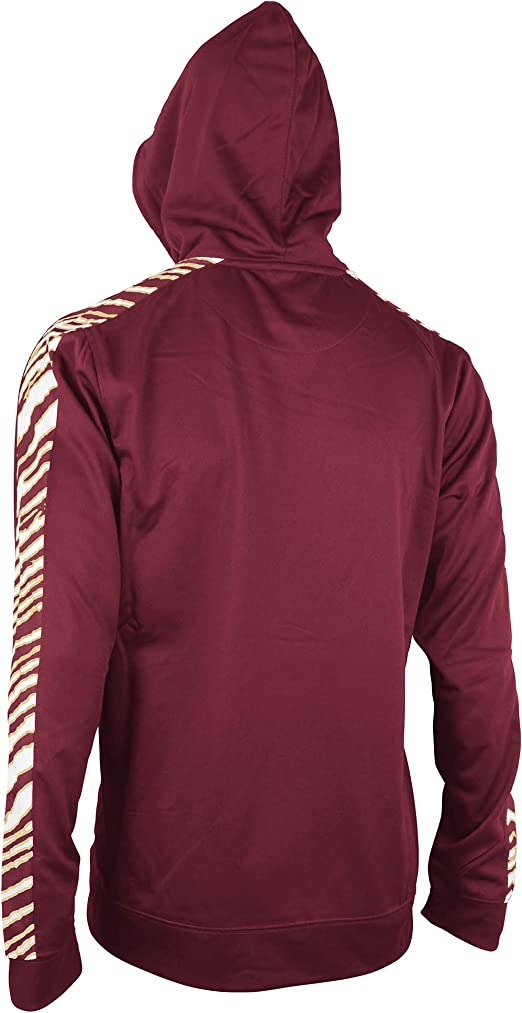 NCAA Florida State Seminoles Mens Solid Zebra Hoodie Maroon//White Medium