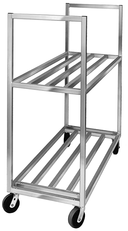 X Metal Kitchen Cart With Shelf on