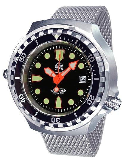 Tauchmeister 1937 T0255MIL - Reloj, Correa de Acero Inoxidable: Amazon.es: Relojes