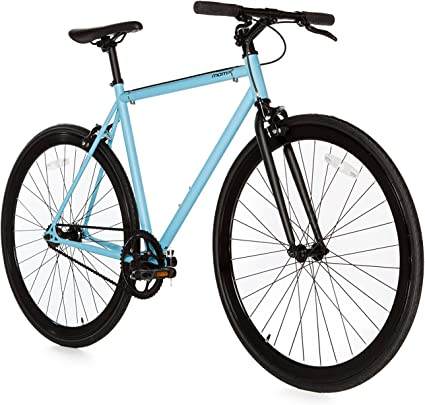 Moma Bikes Bicicleta Fixie Urbana, Fixie AzulFixed Gear & Single Speed (Varias Tallas): Amazon.es: Hogar