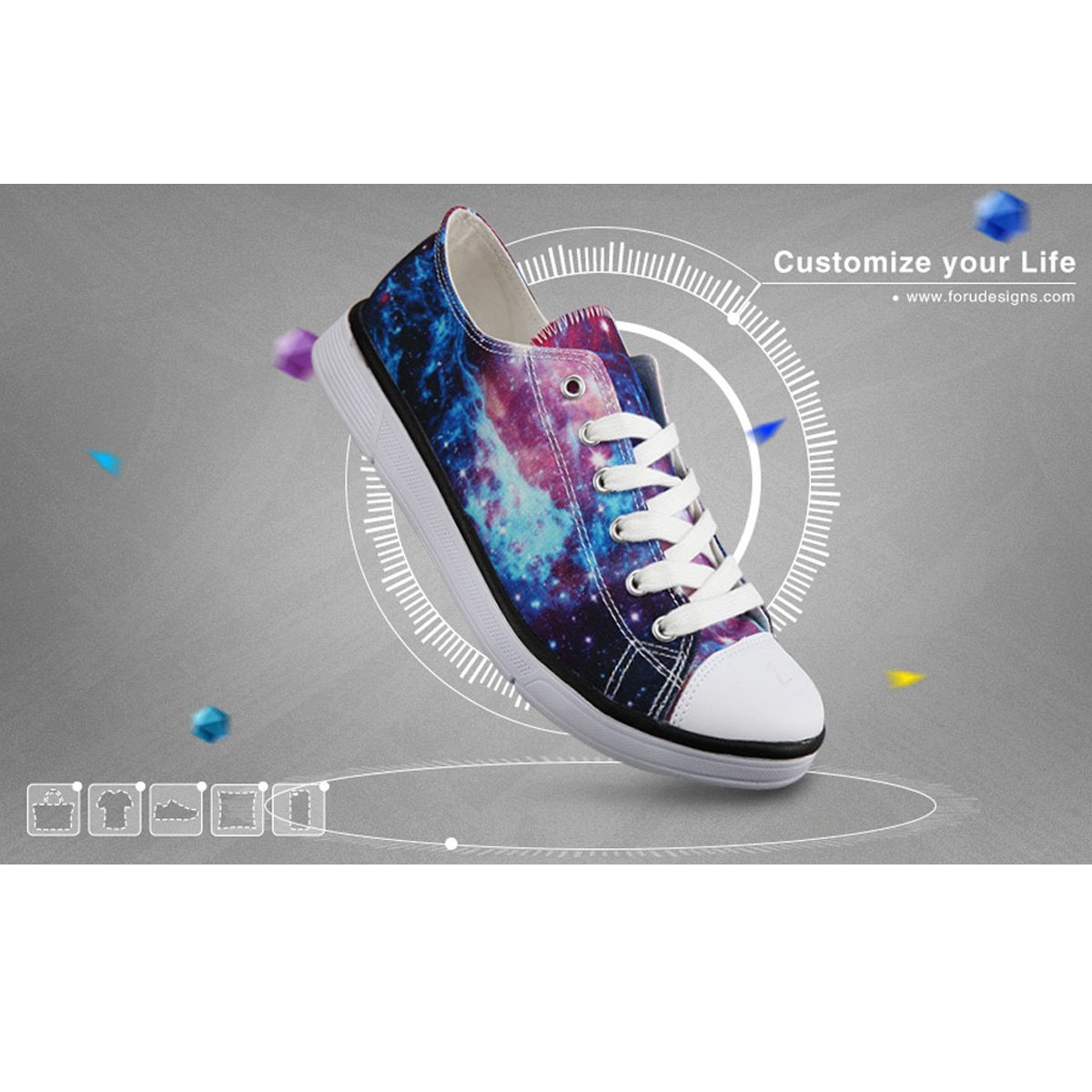 Frestree Custom Design Male Sneakers Shoes Girl Sport Shoes