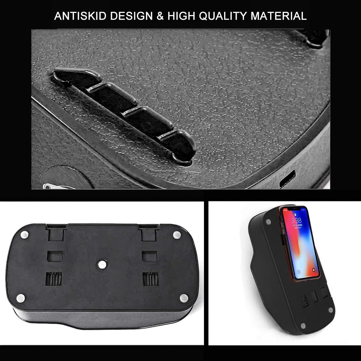 Dealpeak Car Tissue Box Phone Holder Multifunctional Car Organizer Phone Bracket Card Slots Holder Car Accesssorie Ornaments Black 4350410535