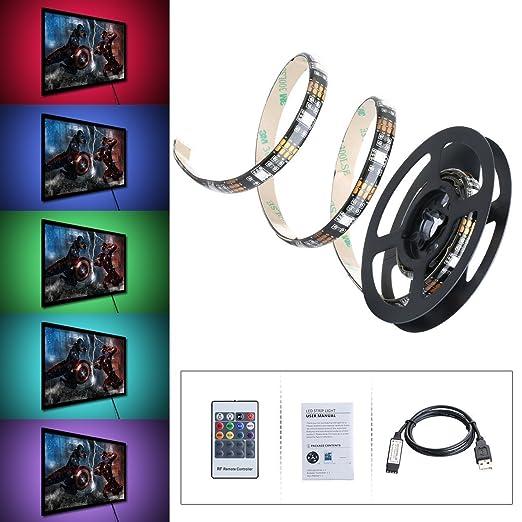 83 opinioni per Striscia LED OMorc 1m 5050 SMD USB RGB 30 LED 8 Colori Impermeabile