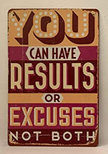 Nostalgic Funny Vintage Rustic Style Inspirational Art Tin Sign Inspirational Motivational Quotes 8x12 Tin Sign