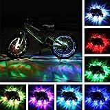 Lifehackist lumineux Rayons DEL Bike Wheel Lights 7 en 1 couleurs rechargeable USB