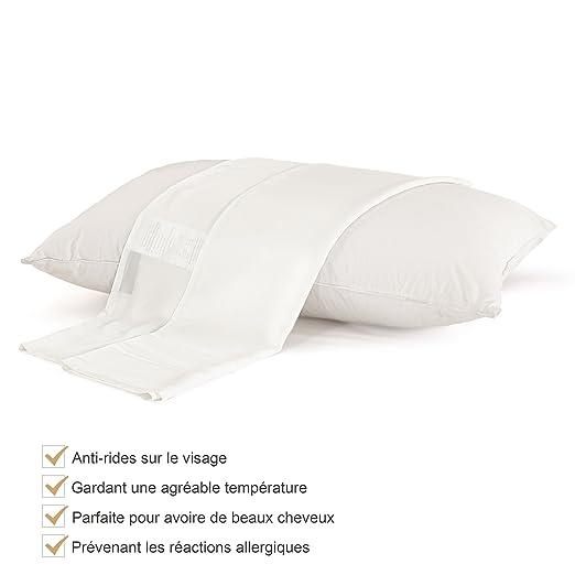 LILYSILK almohada y funda de almohada. – Cojín suave ...