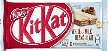 Nestlé KIT KAT 2 Finger White & Milk Chocolate, 6 Bars