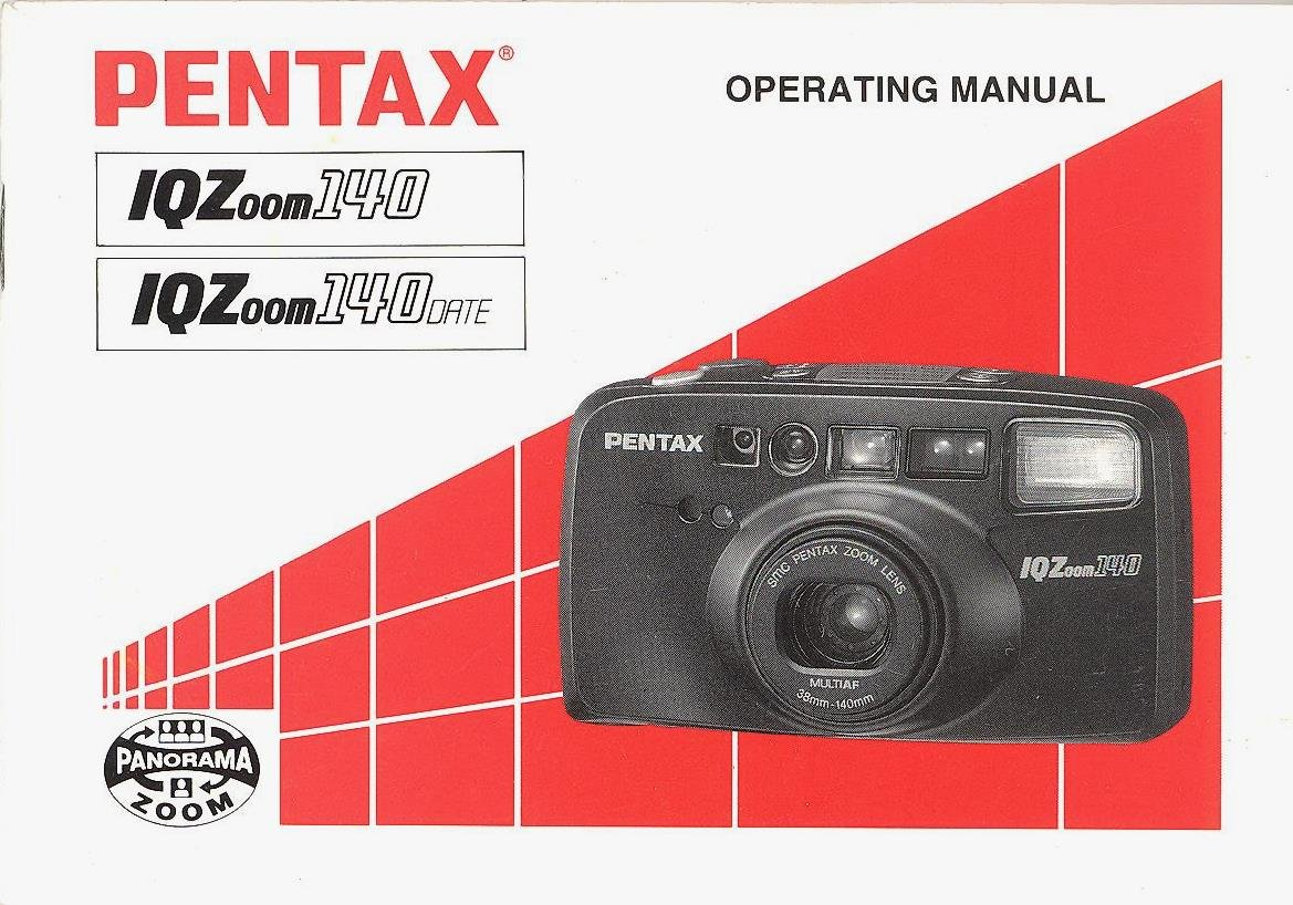 pentax iqzoom 140 iqzoom 140 date original operating manual pentax rh amazon com Pentax IQZoom 70 Super Pentax IQZoom 145M