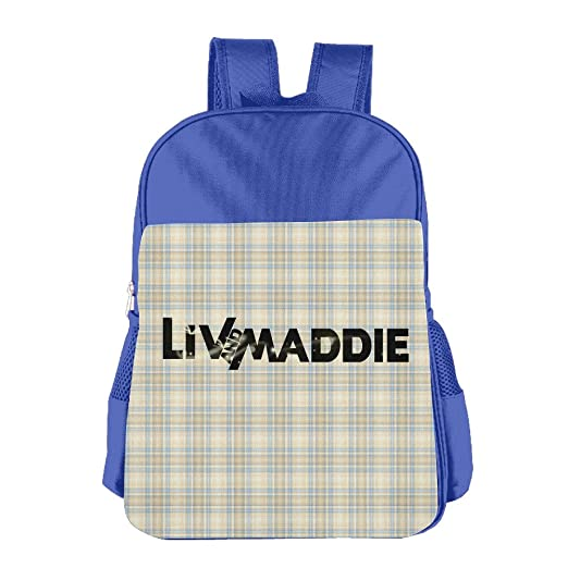 Amazon Liv And Maddie Logo RoyalBlue Funnyschool Backpack Daypack For Kid Home Kitchen