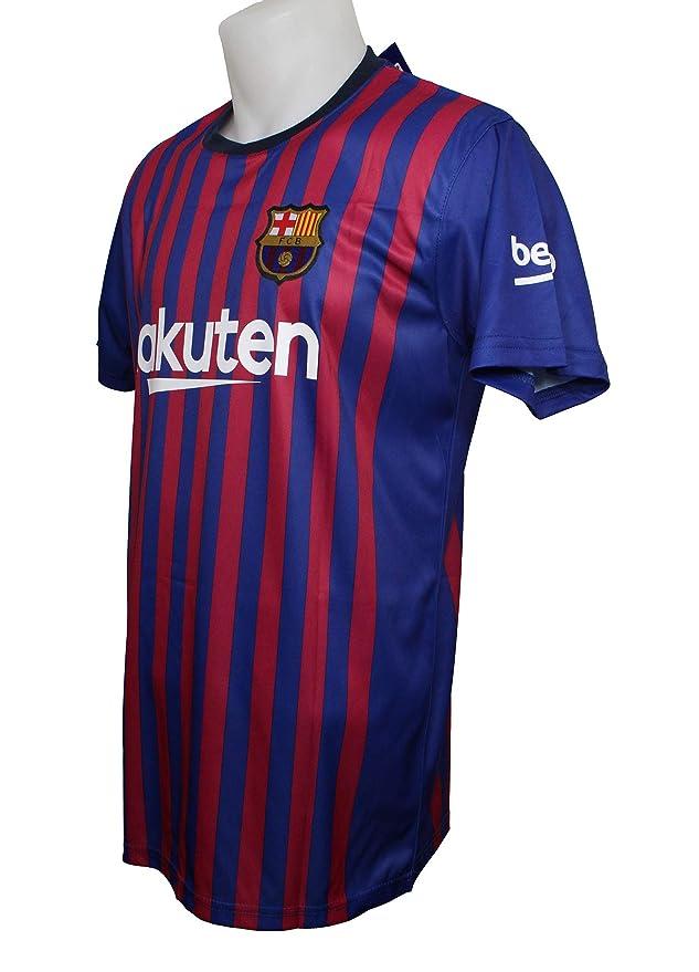 Camiseta 1ª Equipación Replica Oficial FC BARCELONA 2017-2018 Sin Dorsal  LISO - Tallaje ADULTO  (XXL ) Licencia Oficial FC Barcelona 370e2df45cc