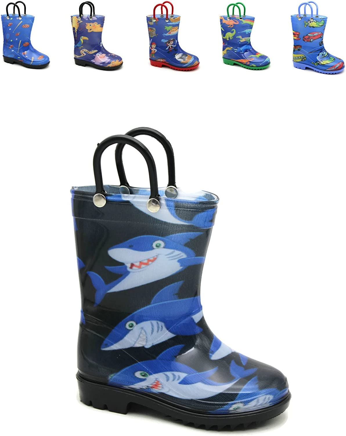 Storm Kidz Kids Boys Printed Rainboots Assorted Prints Toddler/Little Kid/Big Kid Sizes